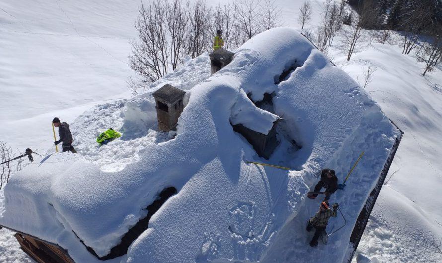 Schneemassen führten zu Einsätzen